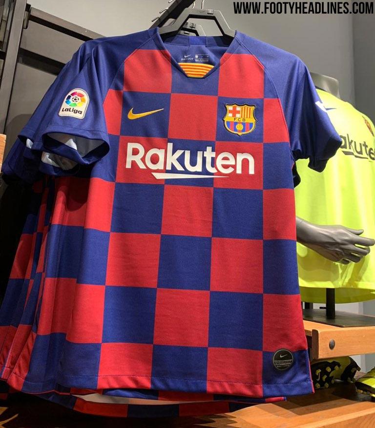 Het 'nieuwe' shirt van FC Barcelona voor het seizoen 2019/20.