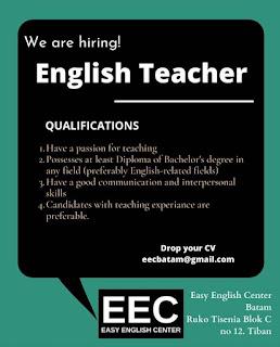 Lowongan Kerja Guru Bahasa Inggris (Easy English Center)