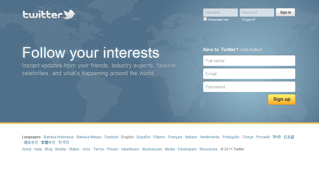 Twitter di Tahun 2011