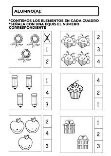 actividades de matematicas para preescola