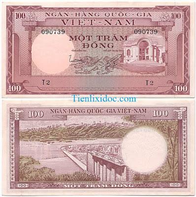 100 đồng việt nam cộng hòa 1955 lần 2