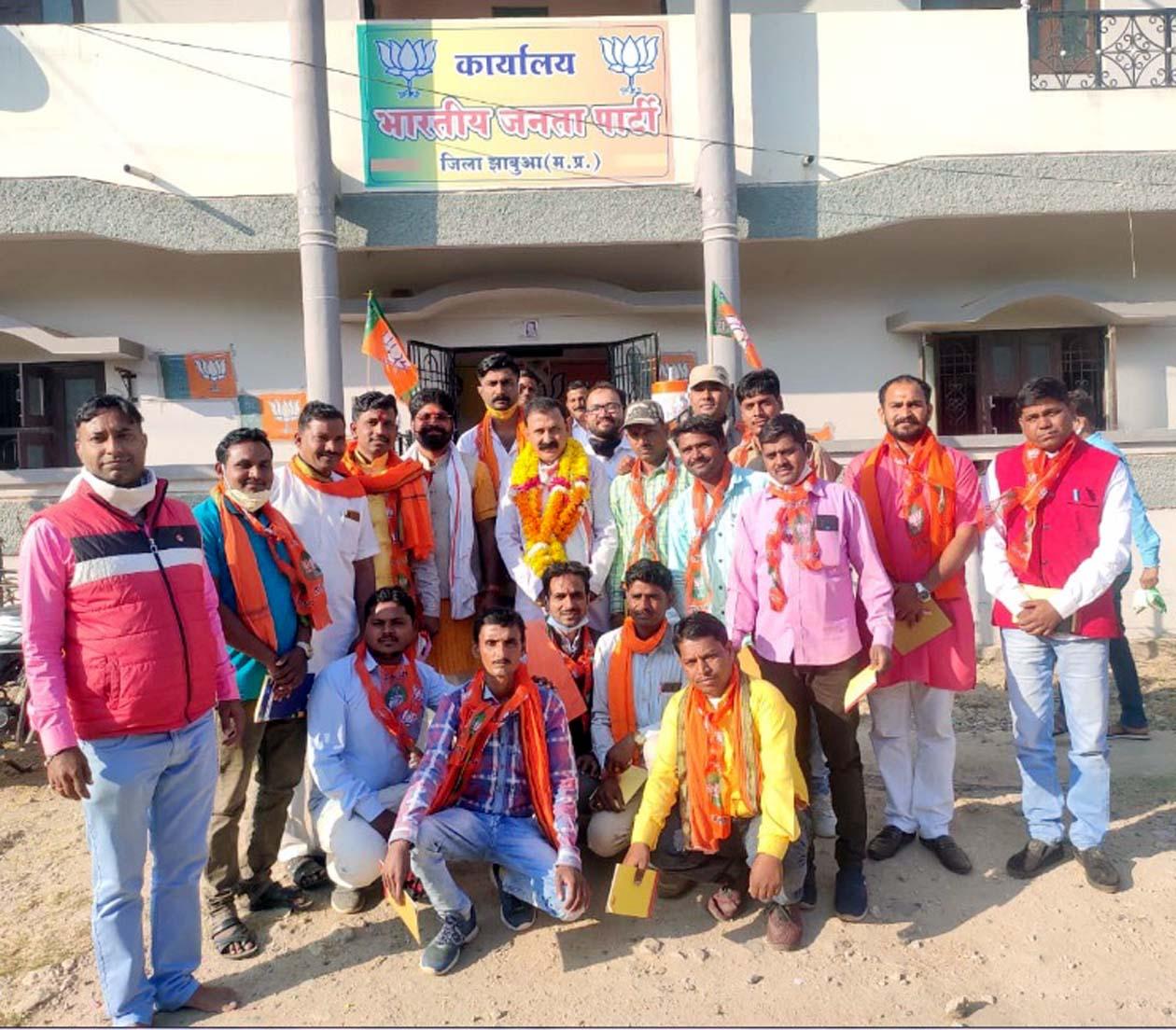 Jhabua News-  भाजपा से सभी नवीन मंडल अध्यक्षों ने भाजपा जिलाध्यक्ष लक्ष्मणसिंह नायक का किया आत्मीय स्वागत