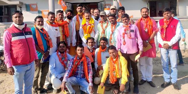 भाजपा से सभी नवीन मंडल अध्यक्षों ने भाजपा जिलाध्यक्ष लक्ष्मणसिंह नायक का किया आत्मीय स्वागत