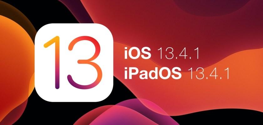 تحديث iOS 13.4.1