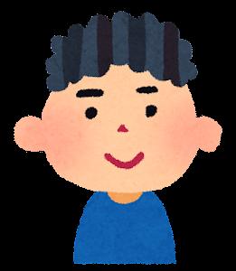 男の子の表情のイラスト「笑顔」