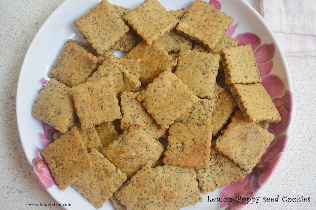 Lemon Poppy seed cookies Recipe | Lemon Flavored Black Poppy Seeds Cookies
