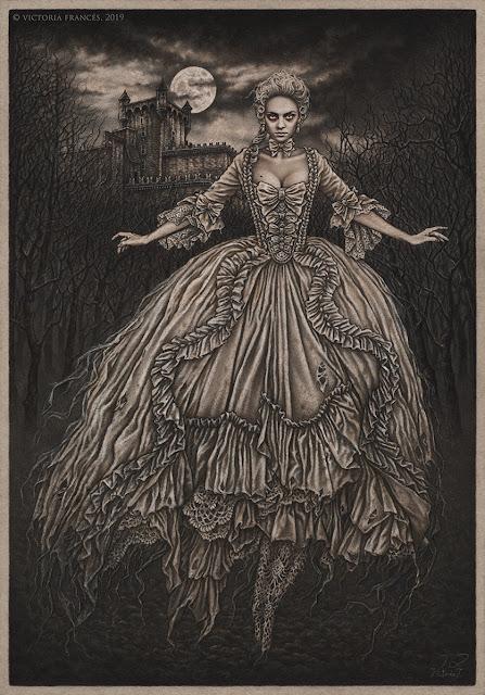 La marquise des brumes, Original Illustration by Victoria Francés