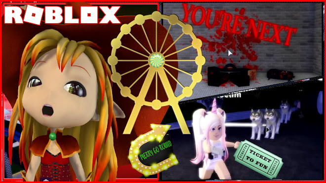 Roblox Amusement Park Gameplay! STORY! Had lots of fun on the rides but some glitches!