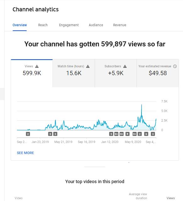 YouTube Revenue Earning Proof 2020