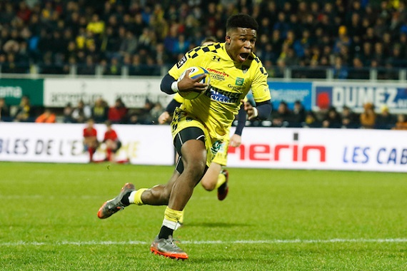 Samuel EZEALA of Clermont during the Top 14 match between Clermont and Agen at Stade Marcel Michelin