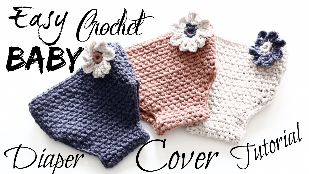 Annoo\'s Crochet World: Easy Adorable Crochet Baby Diaper Cover Tutorial