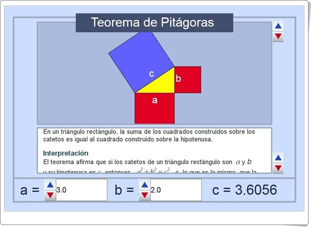 """Teorema de Pitágoras"" (Actividad interactiva de Matemáticas de Secundaria)"