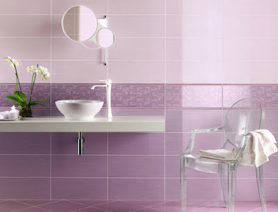 azulejos de baño morado