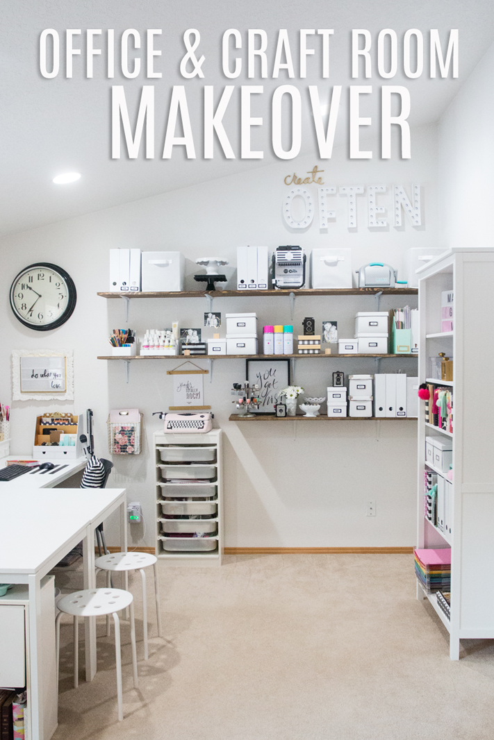 Craft Room and office makeover by @createoften