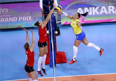 Brasil vence Bélgica na estreia do Grand Prix vôlei femininoTandara