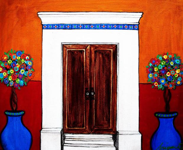 Mexican Art Painting Doors