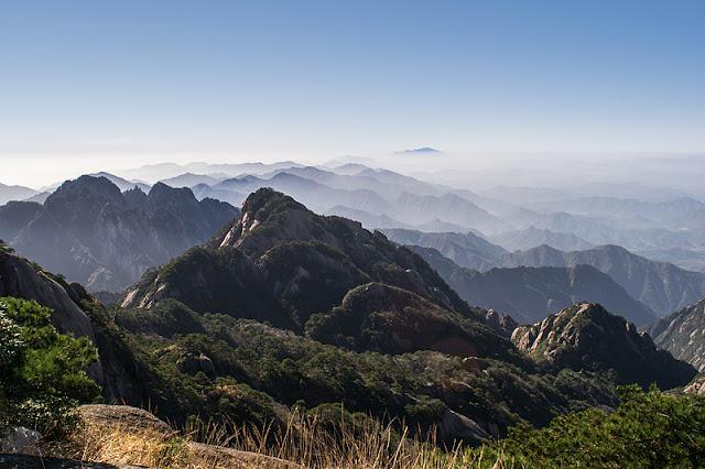 Panorama depuis le sommet du Huangshan