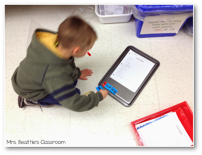 Photo of student working with chunk magnets.