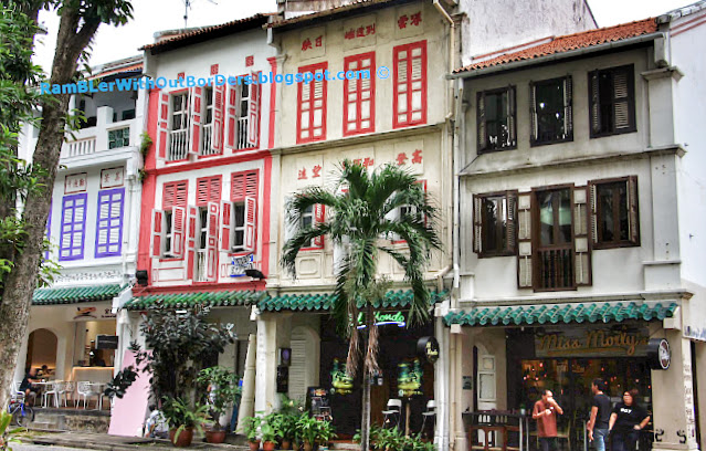 Shophouses in Art-decoand Early Style, Tanjong Pagar Road, Singapore