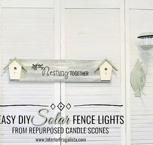 How To Convert Metal Sconces Into Solar Lights