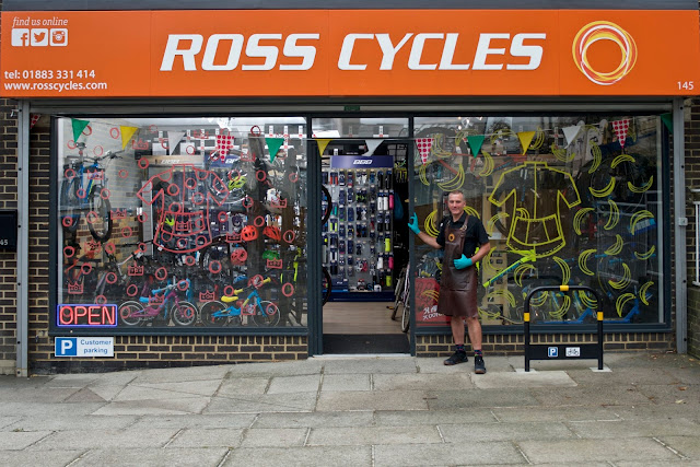 ross cycles caterham shopfront