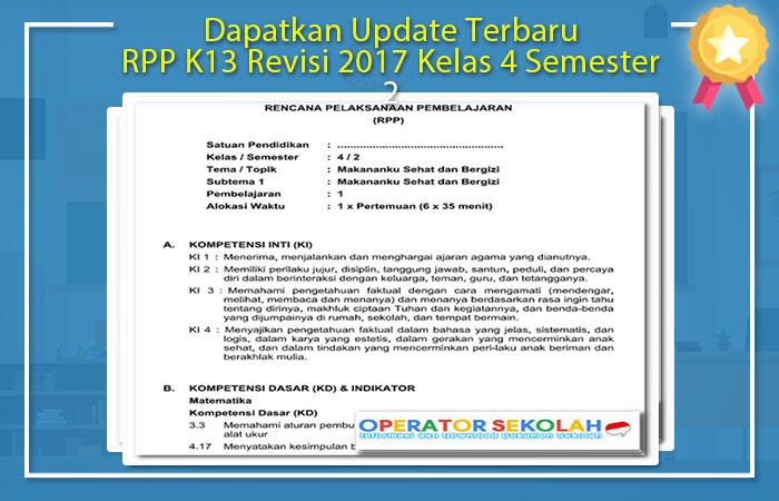 RPP K13 Revisi 2017 Kelas 4 Semester 2