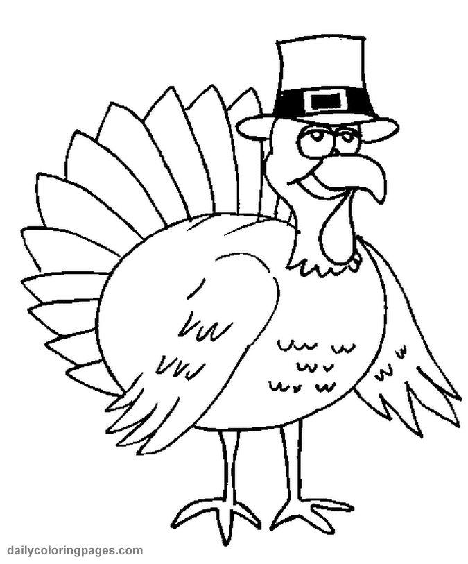cartoon turkey coloring pages - photo#10
