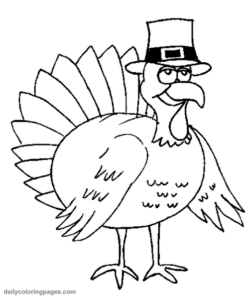 thanksgiving turkey coloring page for kids coloring download