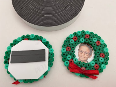 Hama bead magnets with a Christmas theme