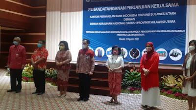 Dekranasda dan KPwBI Sulut Tandatangani PKS