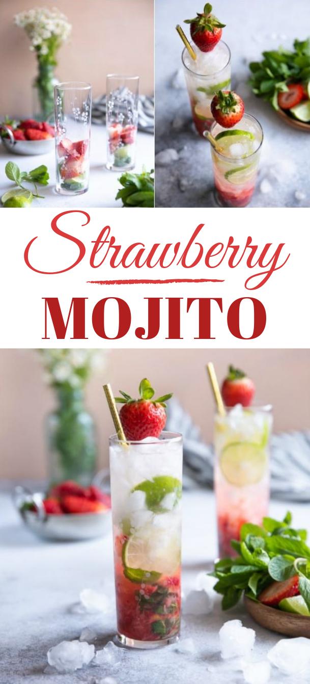 STRAWBERRY MOJITO RECIPE #drink #mojito