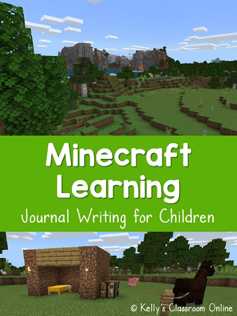 Children practice their writing skills with this Minecraft inspired journal writing lesson plan. Creative writing, technology, Minecraft learning, ELA