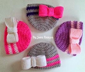 http://www.byjennidesigns.blogspot.com.es/2014/10/newborn-bow-beanie.html
