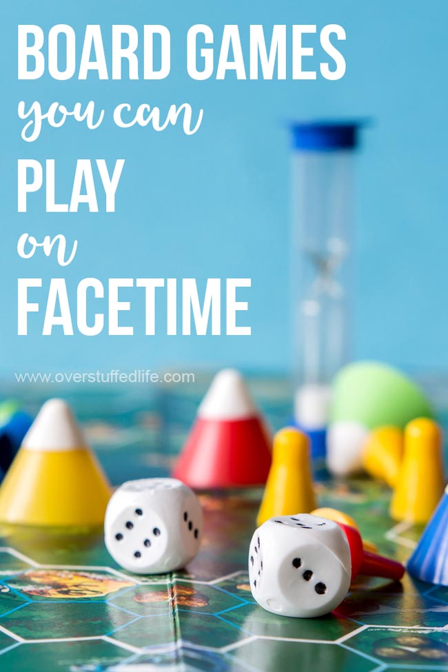 These board games can easily be played with family and friends who are far away over FaceTime, Skype, or other Video chat apps