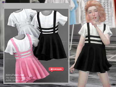 Avril Outfit KIDs for The Sims 4