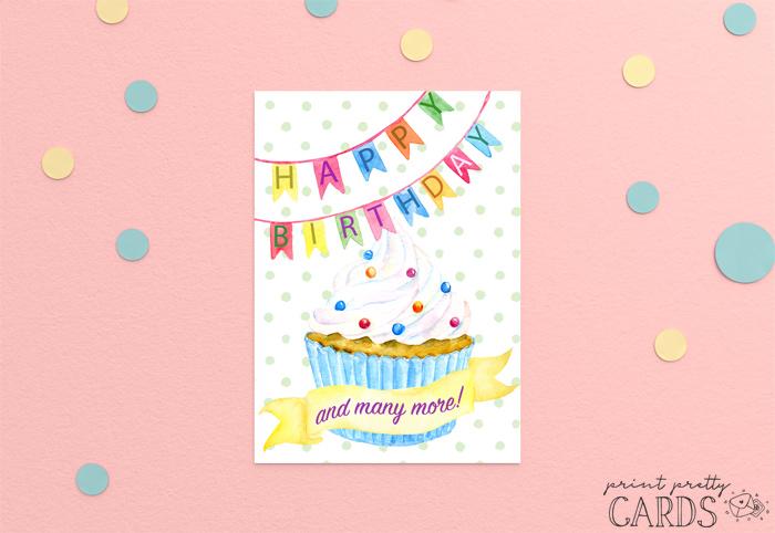 Free Happy Birthday Card Printables