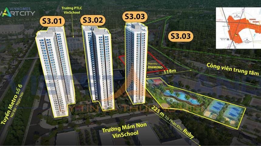 khu the shapphire 3 vinhomes smart city
