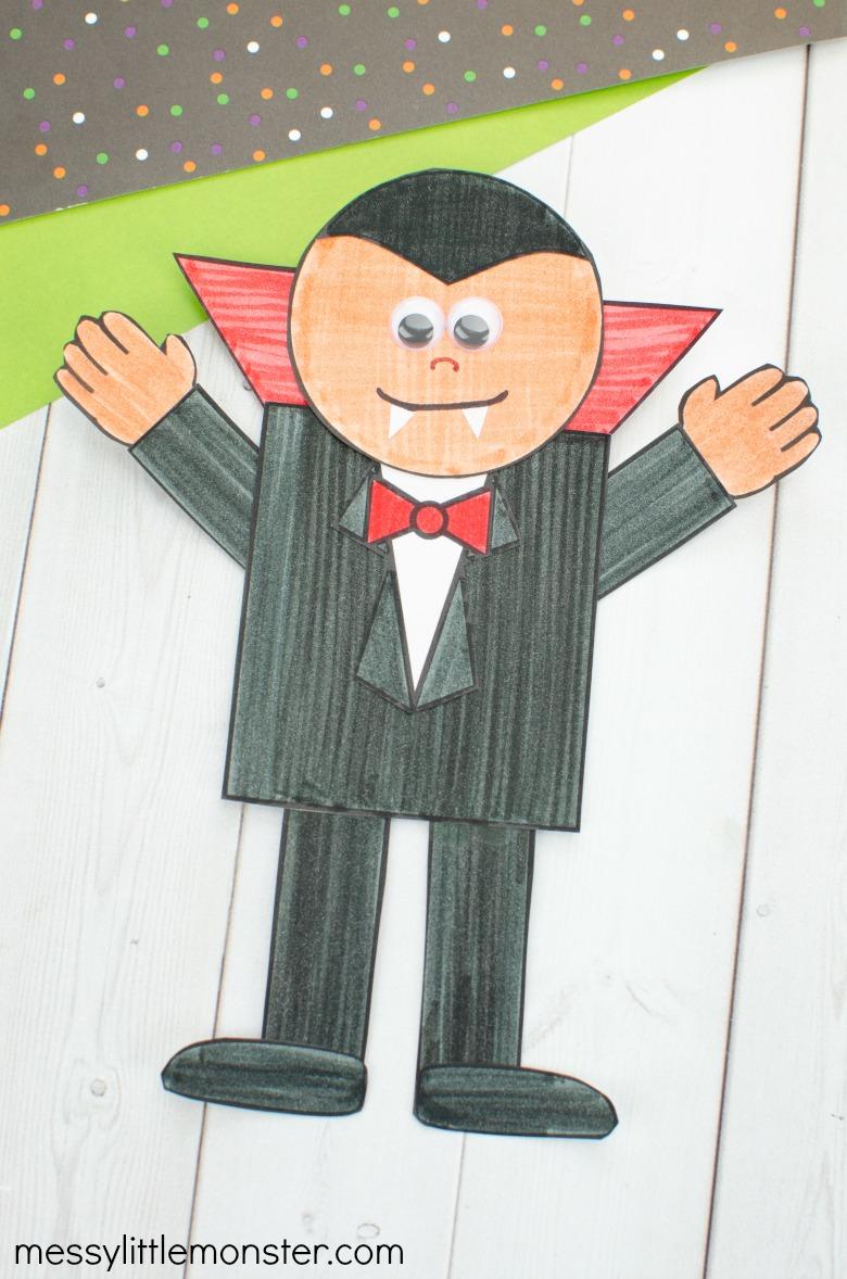 Halloween Vampire Paper Craft for Kids