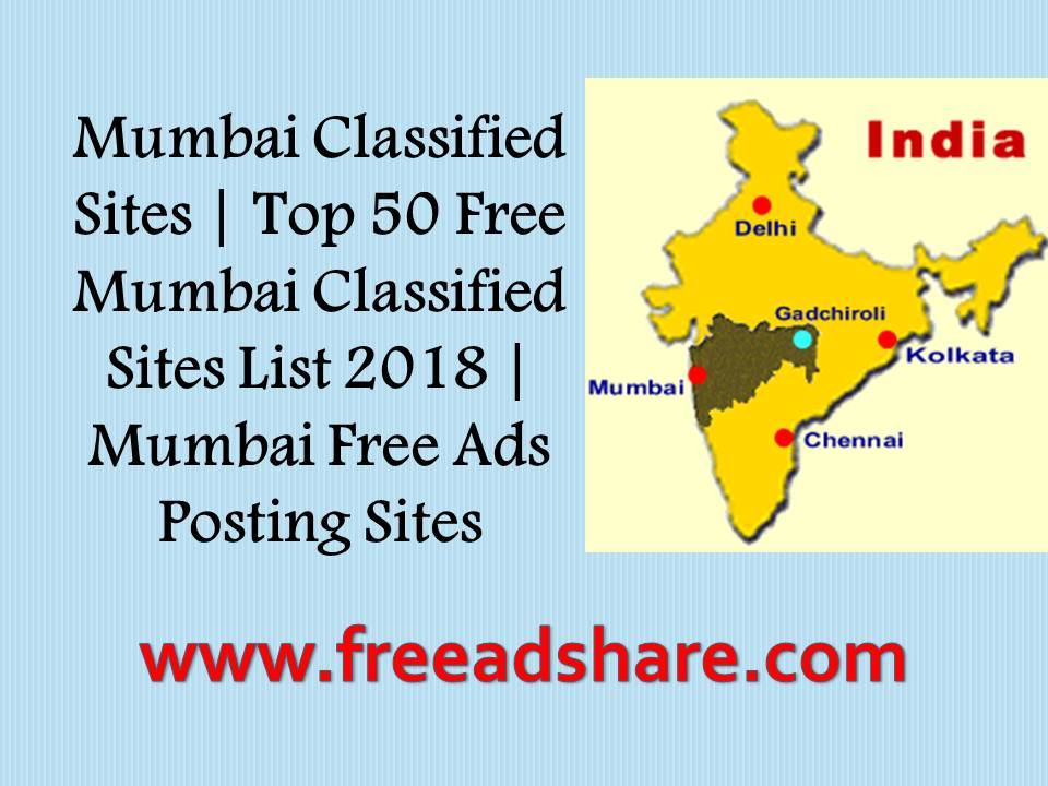 Top 101 Post Free Mumbai Classified Sites List | Best Classifieds