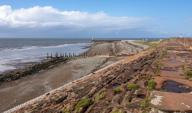 Photo of Maryport shore when the sun came out yesterday (Thursday) afternoon