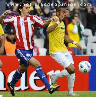 Imagen del partido Brasil-Paraguay de Cuartos de Final de la Copa América Argentina 2011