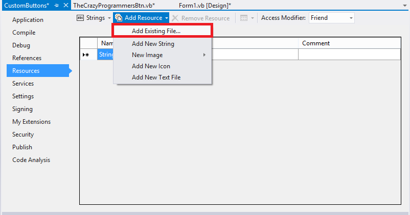 How to Create Custom Button in VB.Net