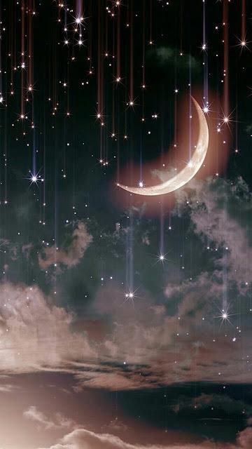 Papel de Parede Celular para Celular Lua e Estrelas