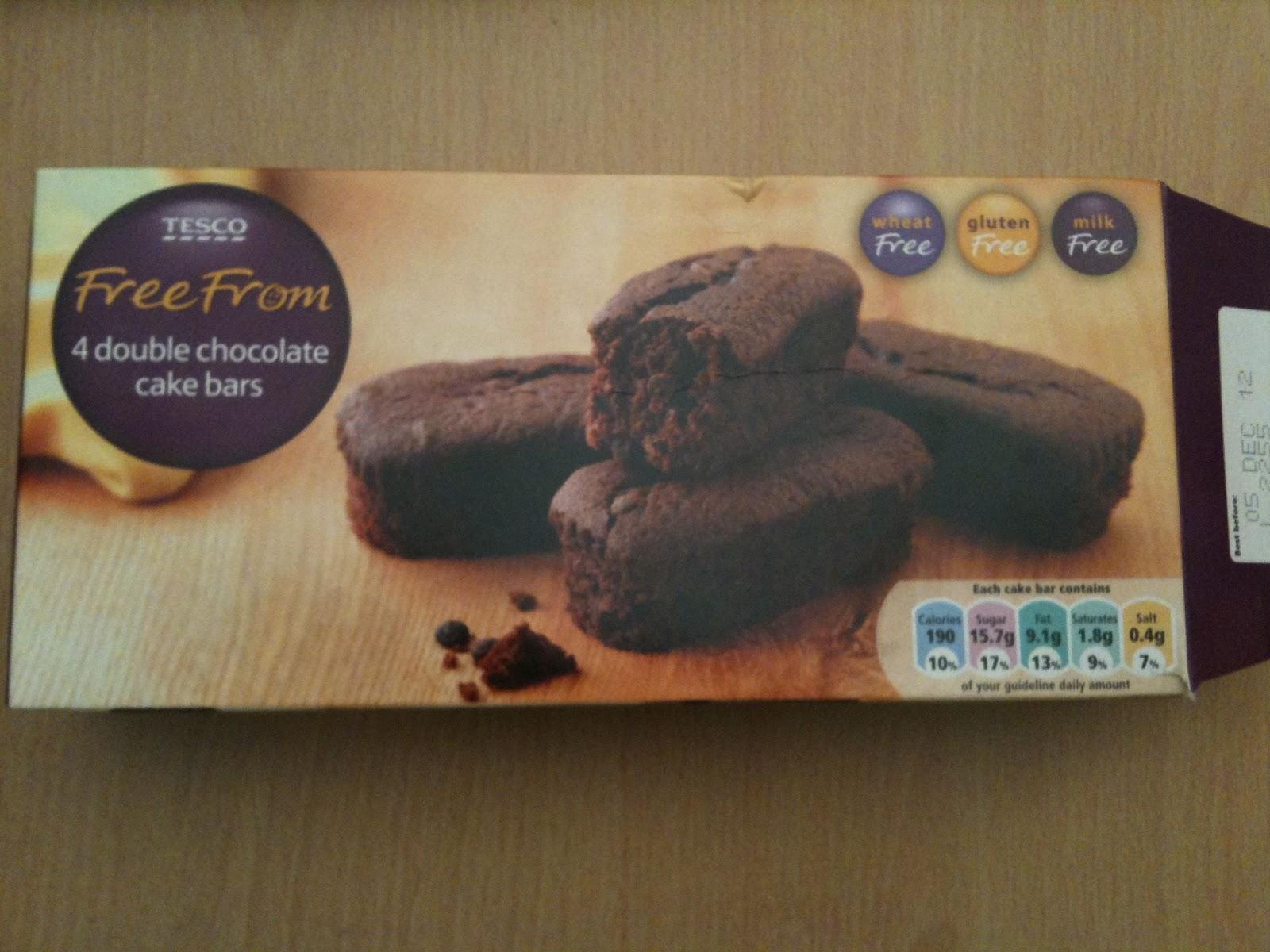 Free From G Tesco Gluten Free Double Chocolate Cake Bars