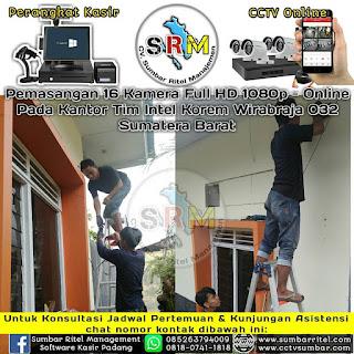 Instalasi CCTV Online pada Kantor TIM INTEL KOREM WIRABRAJA 032