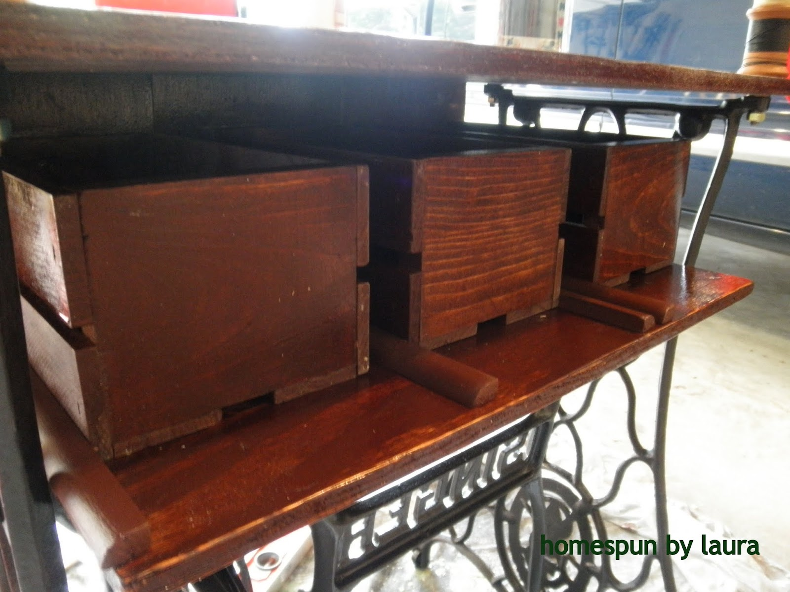 Project 1 Singer Sewing Machine Shelf And Drawers