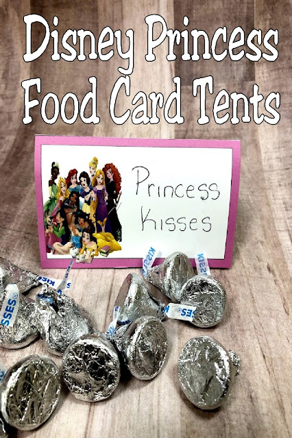 Use these Disney princess food card tents to add your guest's names to place settings or to add fun names to your dessert table.  These tents are different from others you'll find with one special ingredient to make them perfect for inside or outside parties.  Come grab yours and see why they are wind proof.