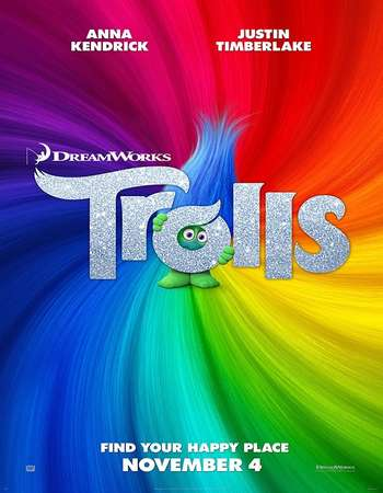 Poster Of Trolls 2016 English 650MB HDCAM x264 Free Download Watch Online downloadhub.net