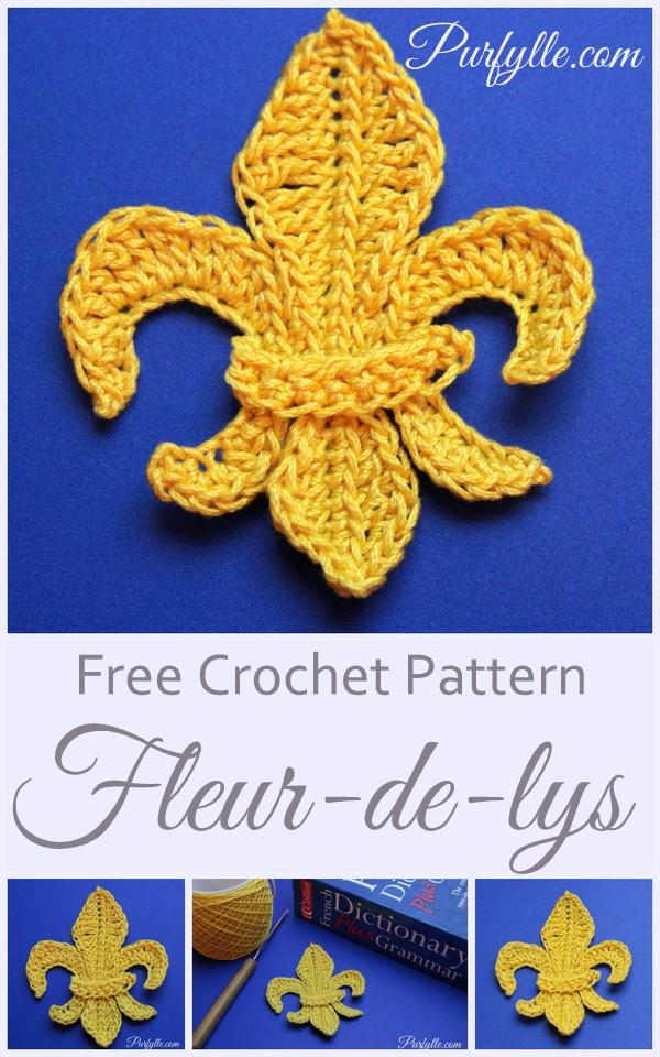 Fleur De Lys Motif Crochet Pattern