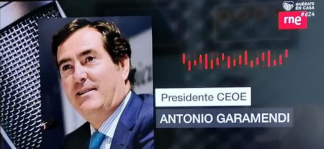 """Garamendi (CEOE) acusa al Gobierno de """"precipitación"""" y falta de diálogo"""
